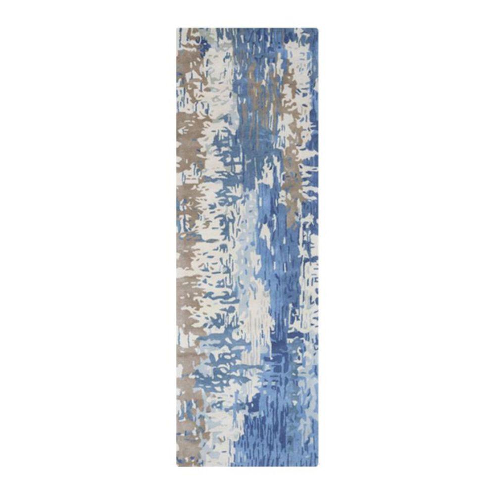 """Surya Banshee BAN-3342 2'6"""" x 8' Blue Runner, , large"""