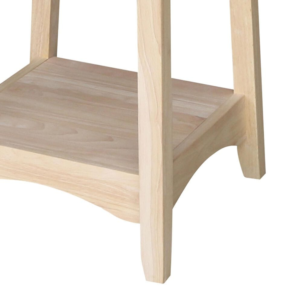 International Concepts Bombay End Table in Unfinished, , large