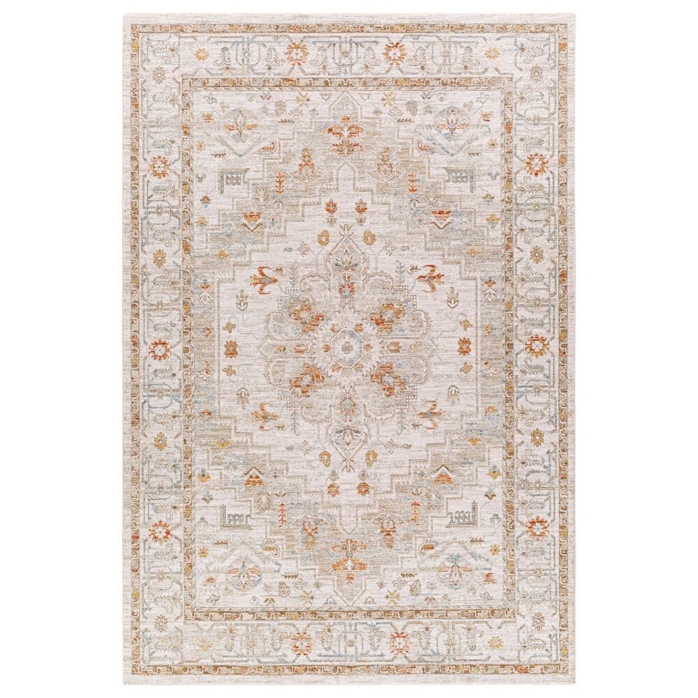 "Surya Avant Garde AVT-2313 5' x 7'5"" Orange, Blue and Beige Area Rug, , large"