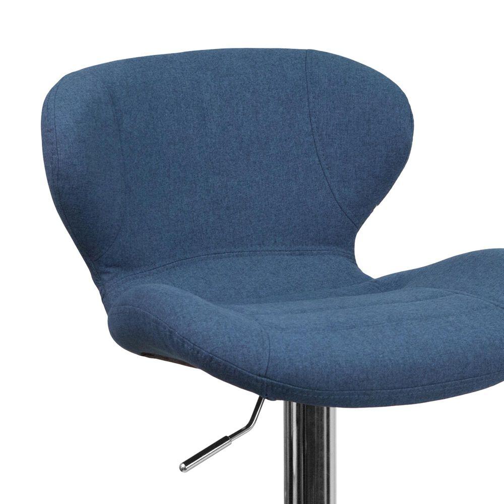 Flash Furniture Adjustable Barstool in Blue, , large
