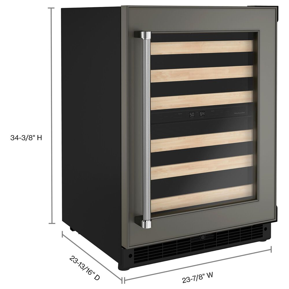 """KitchenAid 24"""" Panel-Ready Undercounter Wine Cellar with Wood-Front Racks and Right Hinge, , large"""