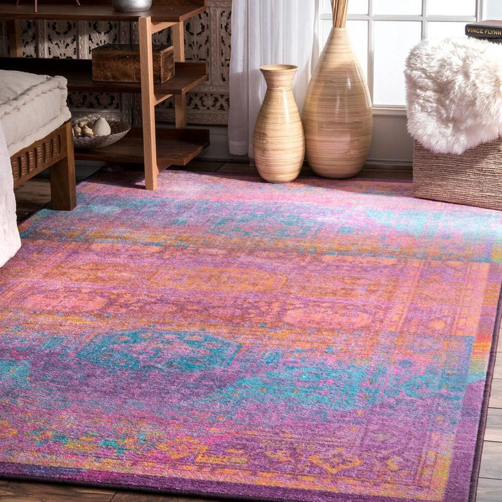 nuLOOM Giza MCGZ24A 5' x 8' Purple Area Rug, , large