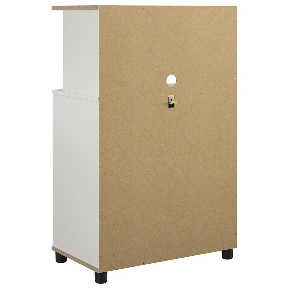 Ameriwood Furniture Mirra Microwave Stand in White, , large