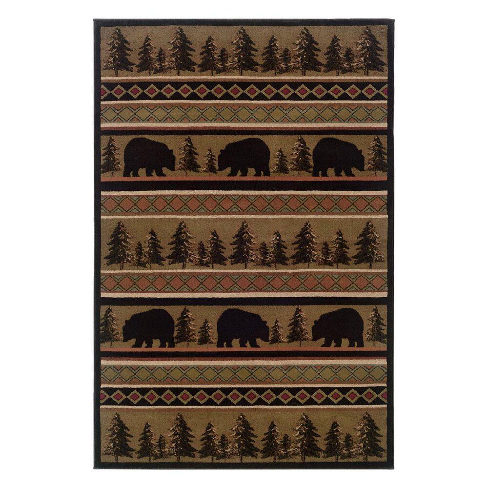 """Oriental Weavers Hudson 1066A 1'10"""" x 3'3"""" Black Scatter Rug, , large"""