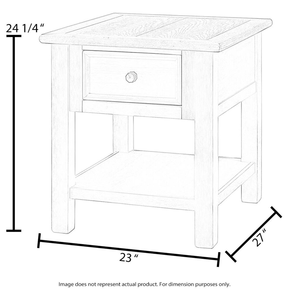 Flexsteel Plymouth End Table in Whitewash, , large