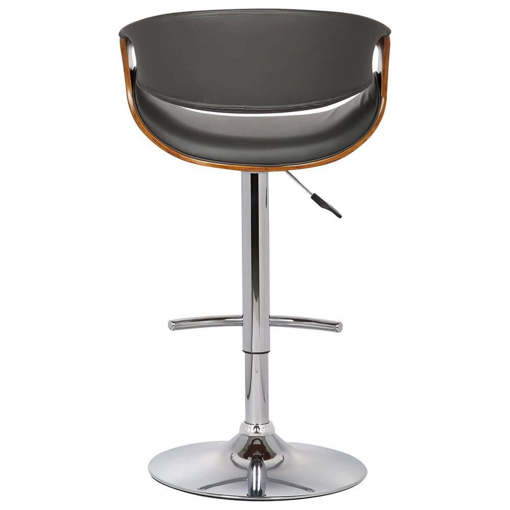 Blue River Butterfly Adjustable Swivel Bar Stool in Gray and Walnut, , large