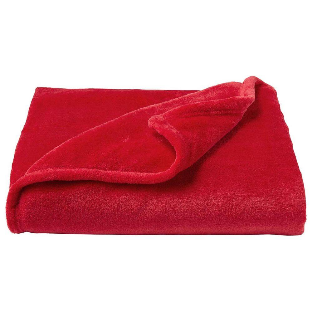 Timberlake Lavish Home Microfiber Velvet Throw in Vineyard Red, , large