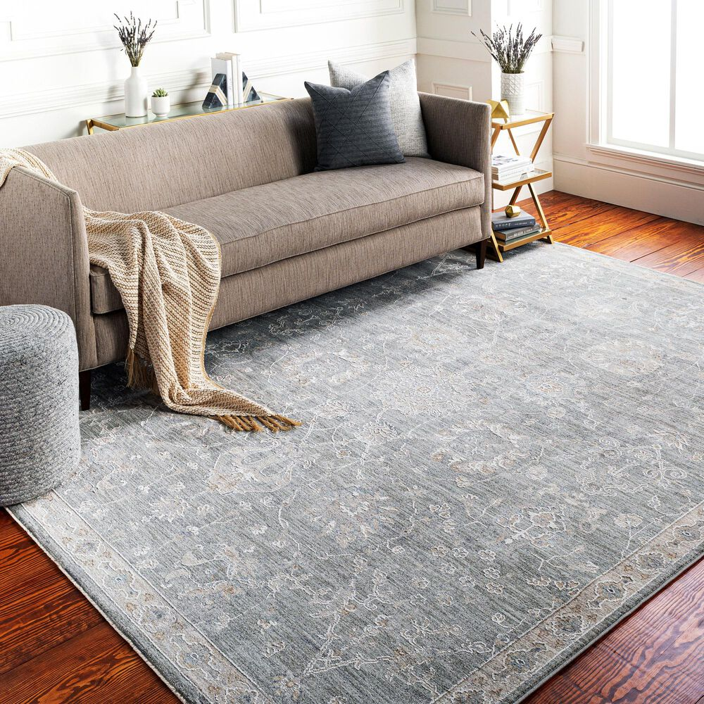 "Surya Avant Garde 5' x 7'5"" Gray, Beige and Denim Area Rug, , large"