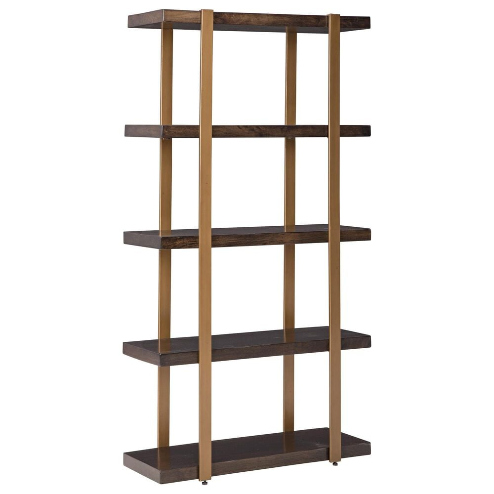 Signature Design by Ashley Beckville Bookcase in Gold and Brown, , large