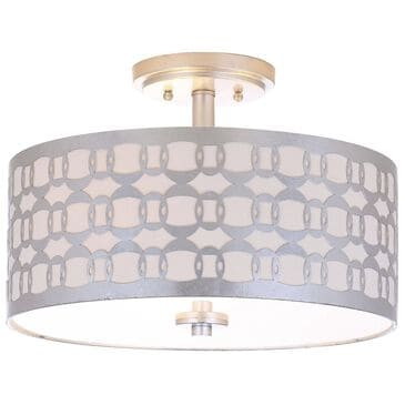 "Safavieh Cedar 15"" 3-Light Flush Mount in Silver, , large"