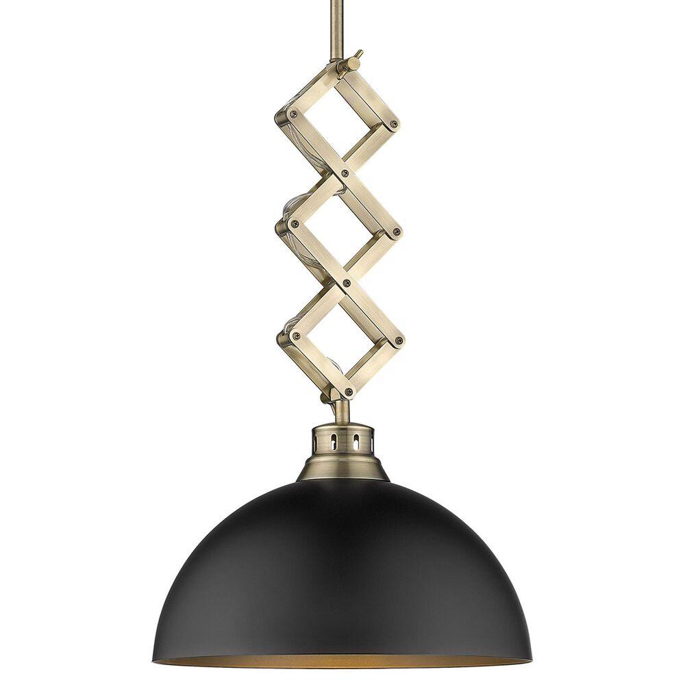Golden Lighting Hawthorn Medium Pendant in Aged Brass and Matte Black, , large