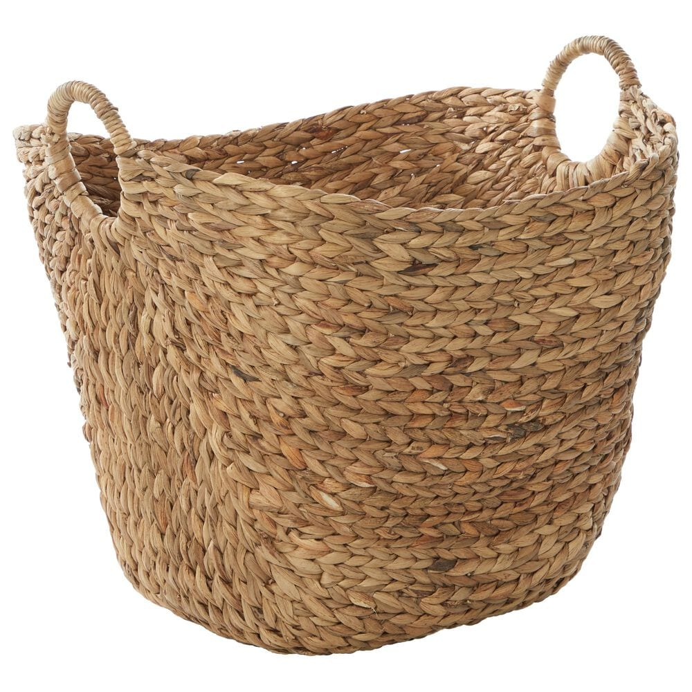 """Maple and Jade 17"""" Basket in Brown, , large"""
