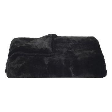 "Safavieh 50"" x 60"" Faux Fur Black Mink Throw in Onyx, , large"