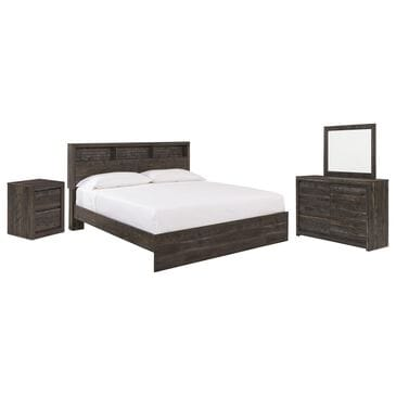 Signature Design by Ashley Vay Bay 4 Piece King Bedroom Set in Rustic Charcoal, , large
