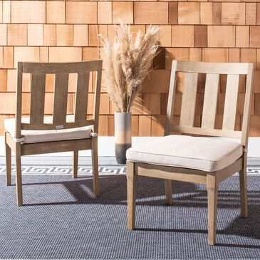 Safavieh Dominica Patio Dining Chair in Natural/White (Set of 2), , large