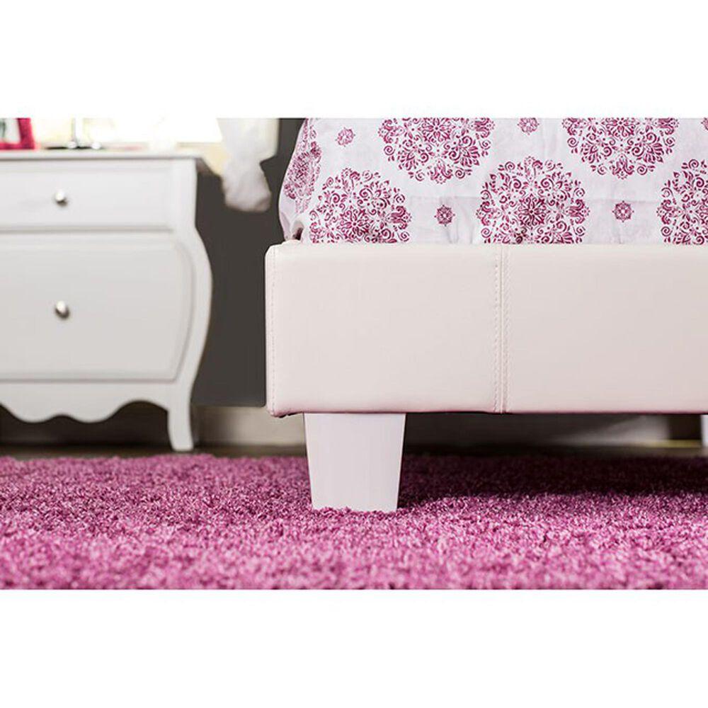 Furniture of America Benson Full Platform Bed in White, , large