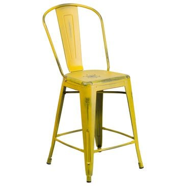 "Flash Furniture 24"" Counter Stool in Yellow, , large"