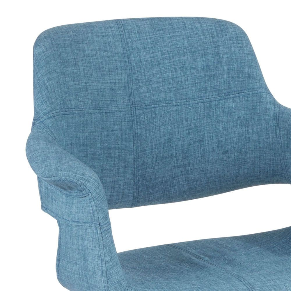Lumisource Vintage Flair Office CHair in Blue and Black, , large