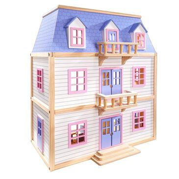 Melissa & Doug Multi-Level Wooden Doll House, , large