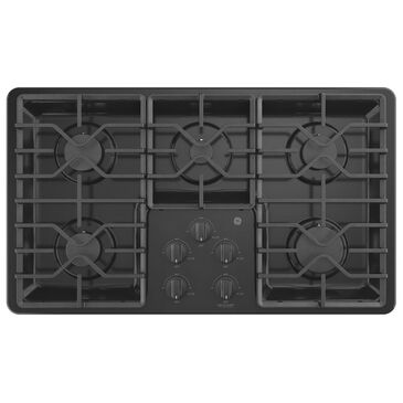 "GE Appliances 36"" Built-In Gas Cooktop in Black, , large"