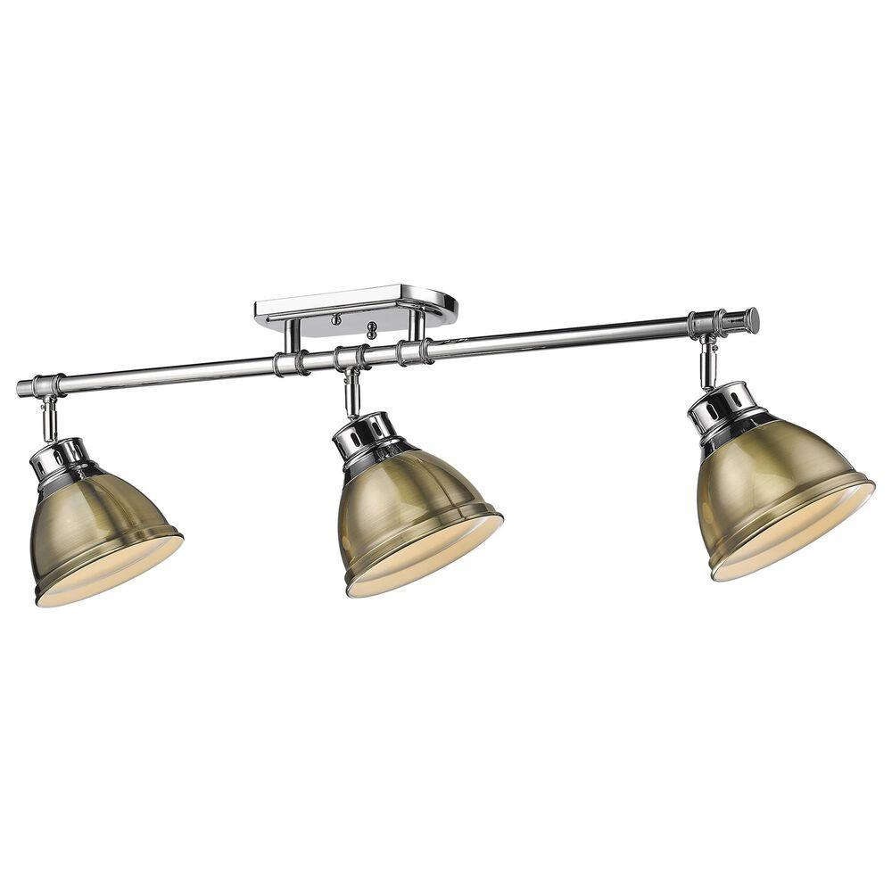 Golden Lighting Duncan Semi-Flush in Chrome and Aged Brass, , large