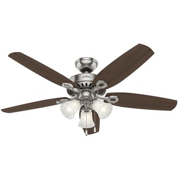 Hunter Builder Plus Ceiling Fan with Light Kit in Brushed Nickel, , large