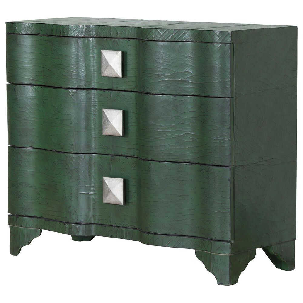 Accentric Approach 3-Drawer Accent Chest in Green, , large
