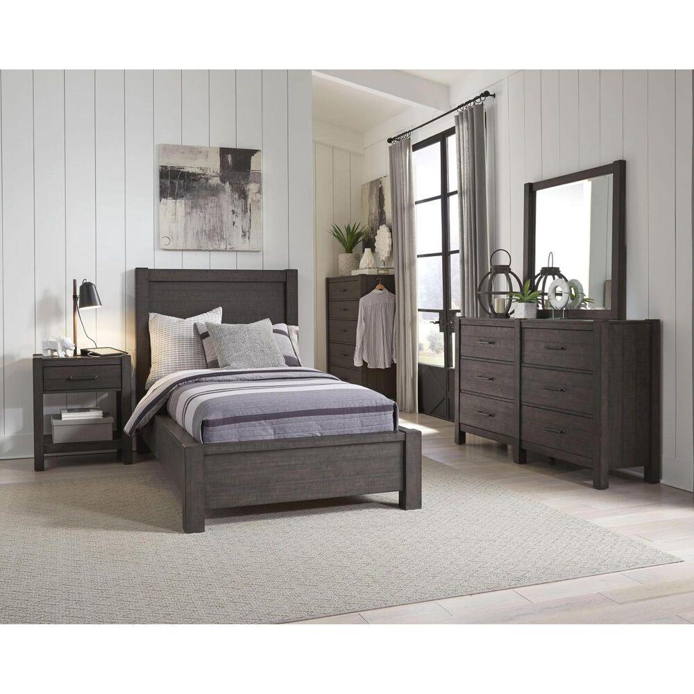 Riva Ridge Mill Creek 4 Piece Full Low Profile Bed Set in Carob, , large