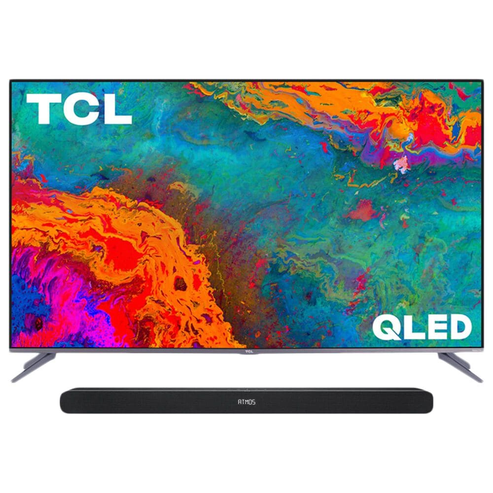 """TCL 65"""" Class 5 Series QLED 4K UHD Smart Roku TV with Alto 8i 2.1 Channel Sound Bar in Black, , large"""