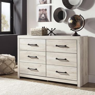 Signature Design by Ashley Cambeck 6 Drawer Dresser in Whitewash, , large