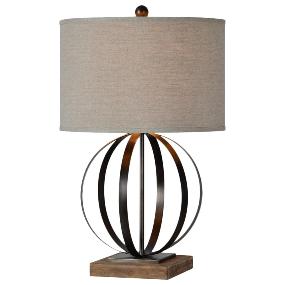 Southern Lighting Currey Table Lamp in Brown and Bronze, , large