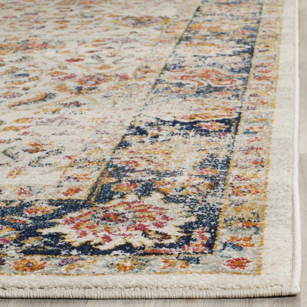 Safavieh Madison MAD609D 10' x 14' Cream and Navy Area Rug, , large