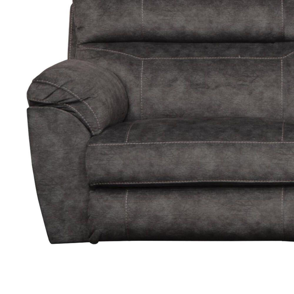 Portland Industries Sedona Power Headrest Lay Flat Reclining Sofa in Smoke, , large