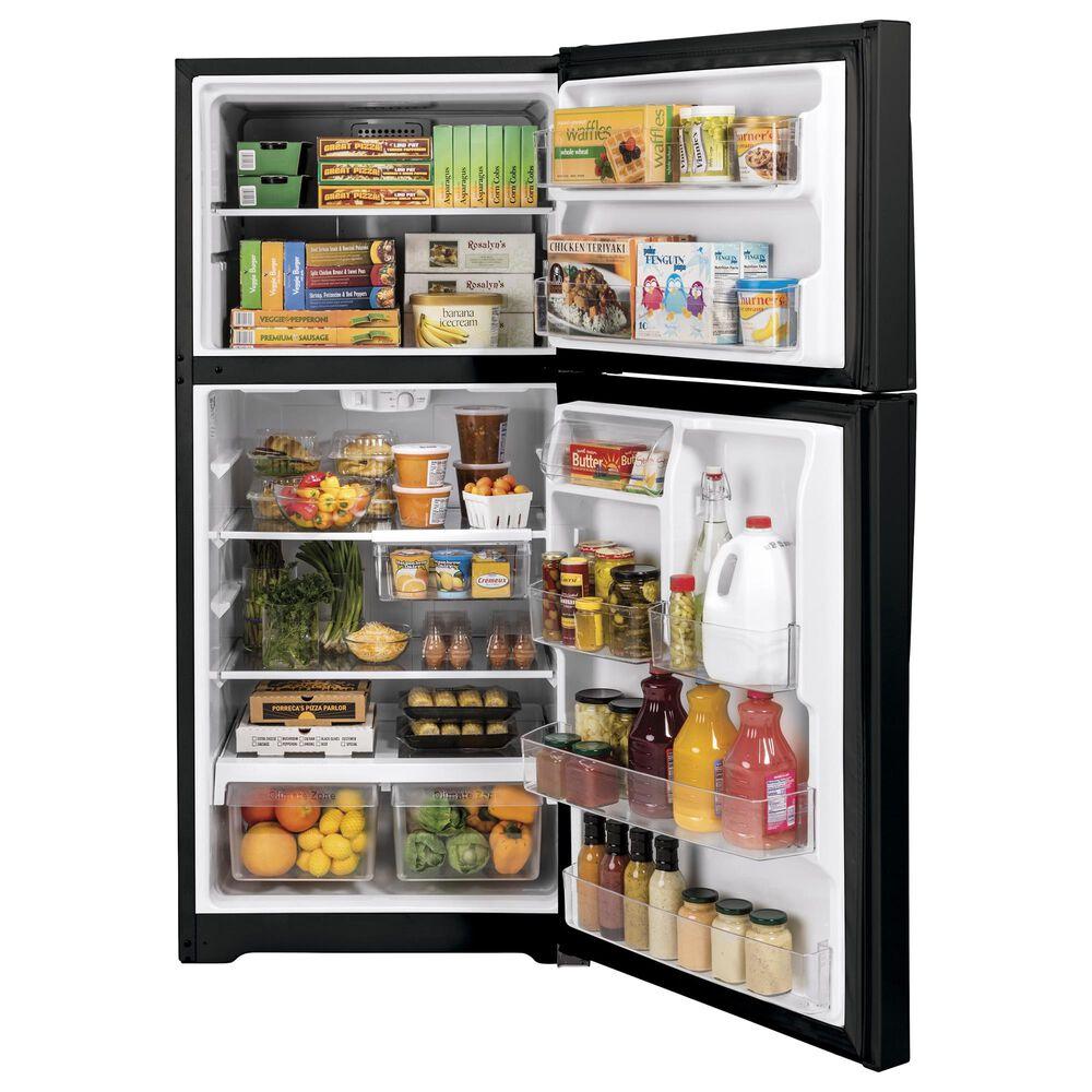 GE Appliances 19.2 Cu. Ft. Top-Freezer Refrigerator in Black, , large