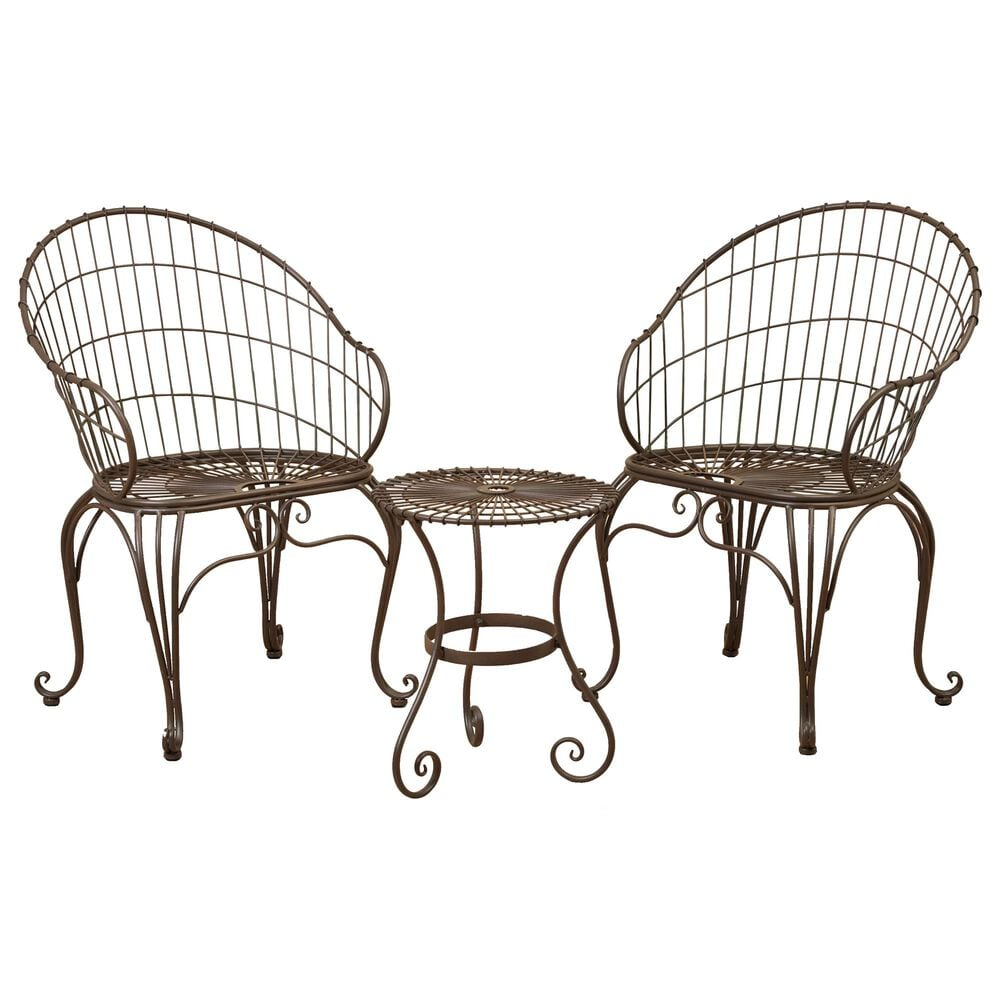 The Gerson Company 3-Piece Bistro Set in Antique Bronze, , large