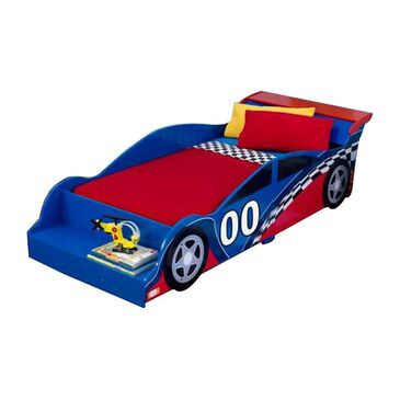 Kidkraft Racecar Toddler Bed in Red and Blue, , large