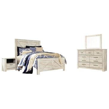 Signature Design by Ashley Bellaby 4 Piece Queen Bedroom Set in Whitewash, , large