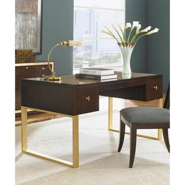 Sligh Bel Aire Melrose Writing Desk with Gold Base in Walnut, , large