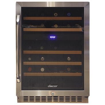 """Dacor 24"""" Heritage Right Hinge Dual Zone Wine Cellar in Stainless Steel, , large"""