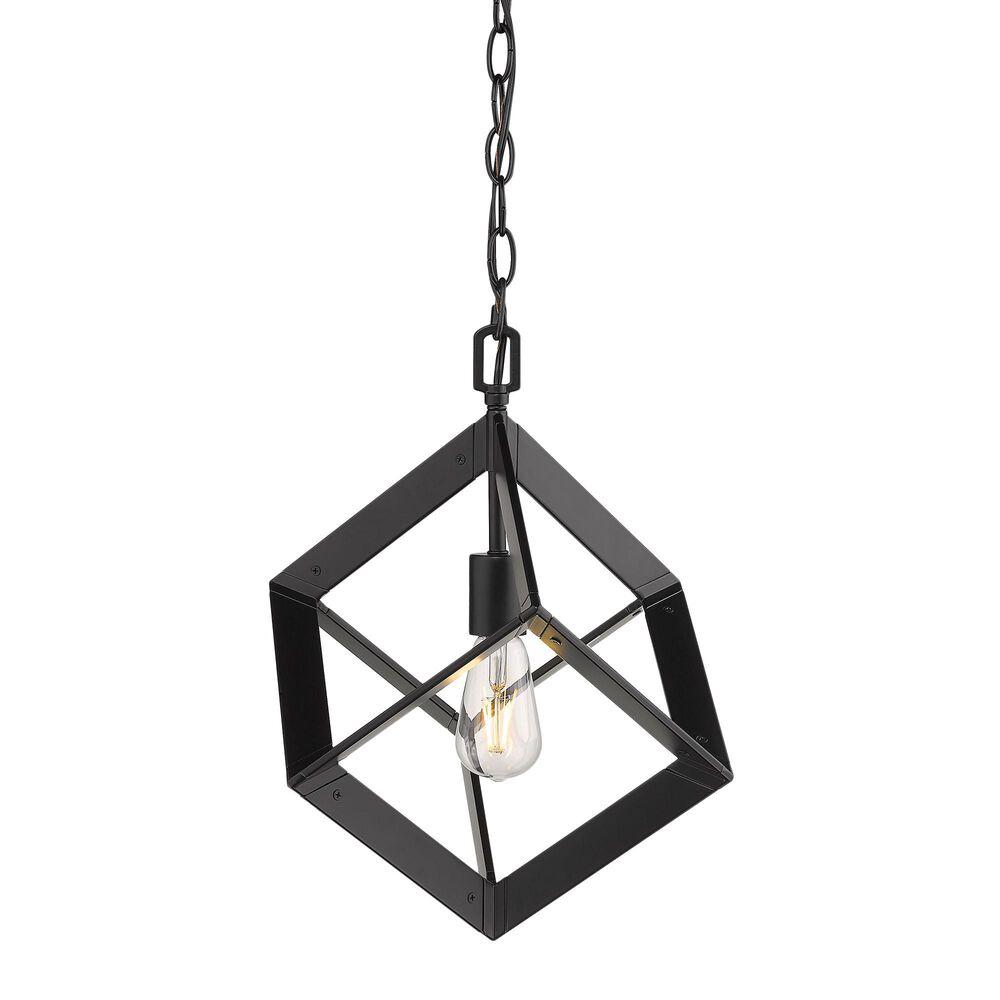Golden Lighting Architect Mini Pendant in Matte Black, , large
