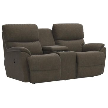 La-Z-Boy Trouper Manual Console Reclining Loveseat in Mink, , large