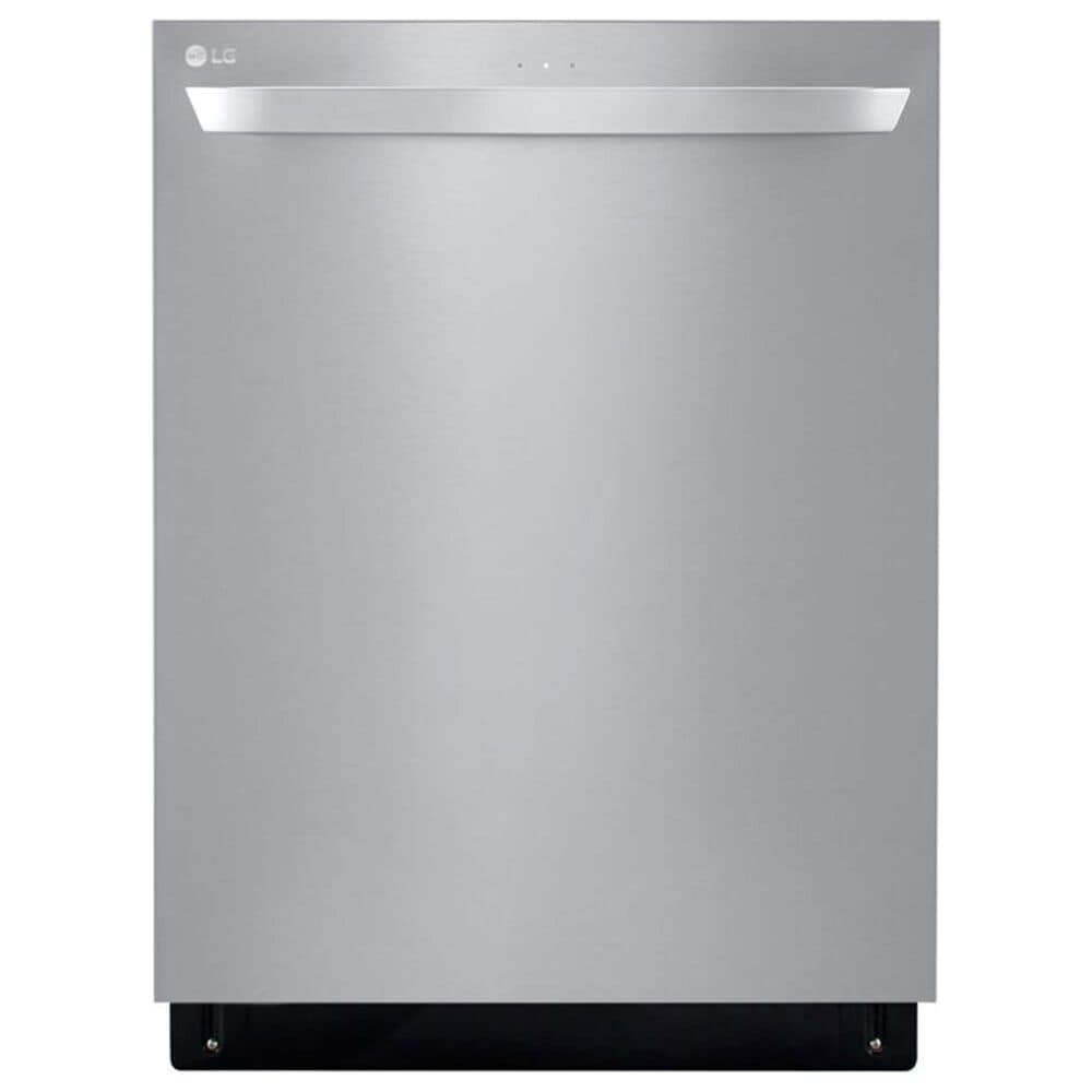LG 2 Piece Kitchen Package 25 Cu. Ft. French Door Refrigerator and Top Control Smart Dishwasher - Stainless Steel , , large