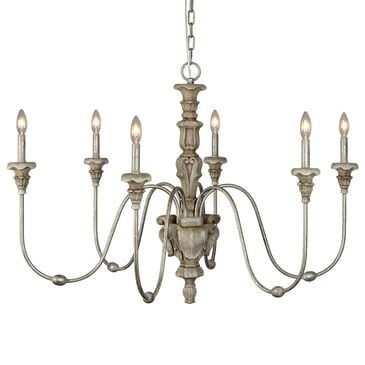 Southern Lighting Saddlebrook Chandelier in Distressed Silver, , large