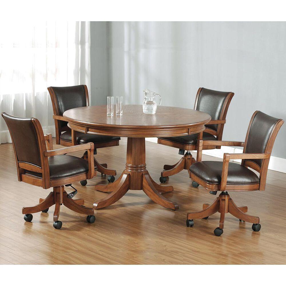 Richlands Furniture Caster Game Chair in Medium Brown Oak, , large