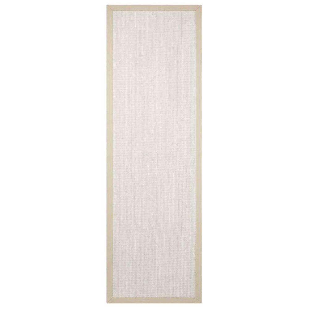 """Nourison Sisal Soft SSF02 2'6"""" x 8' Blanc Runner, , large"""