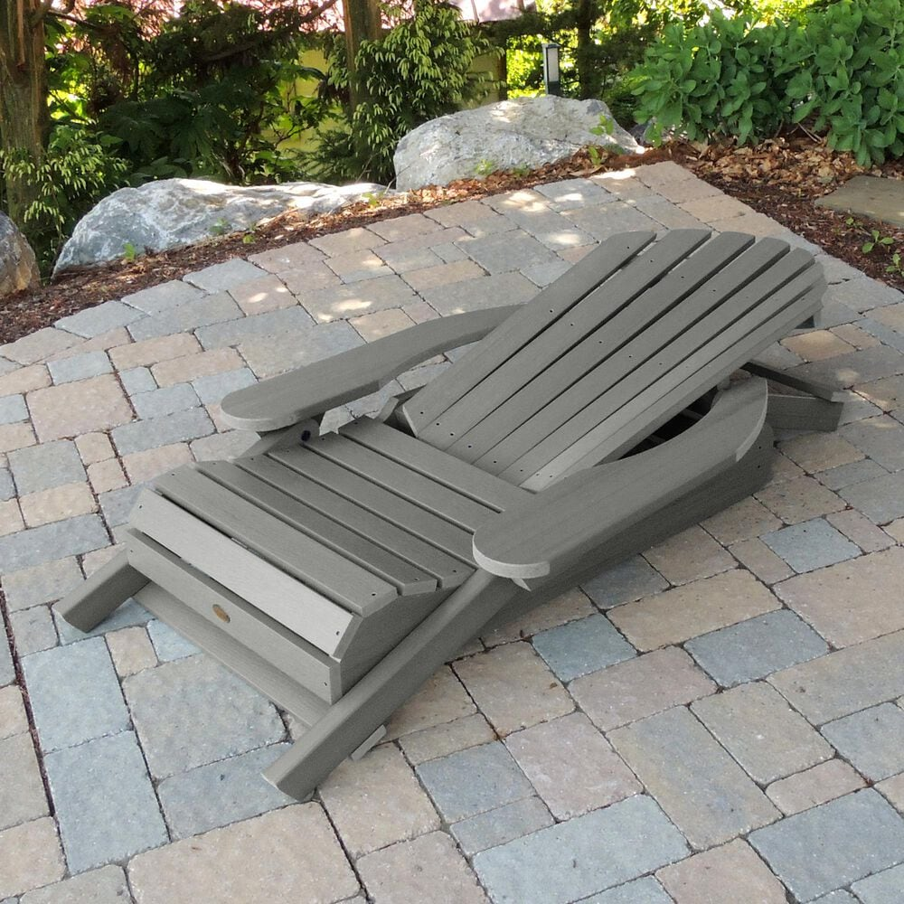 Highwood USA King Hamilton Folding & Reclining Adirondack Chair in Coastal Teak, , large