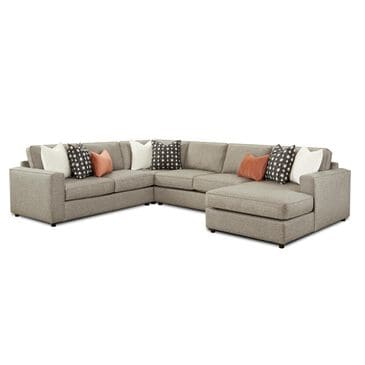 Xenia Contemporary 4-Piece Sectional in Monroe Ash, , large