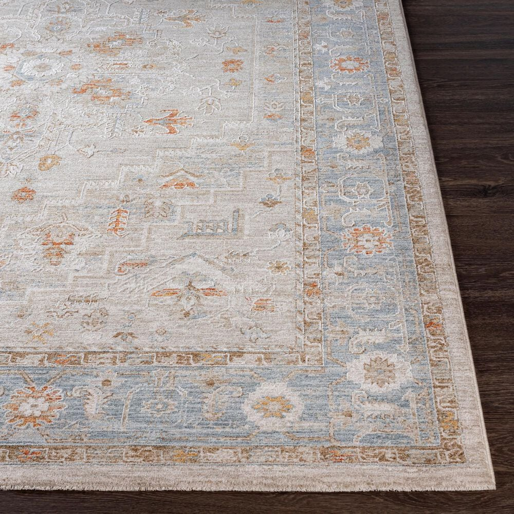 "Surya Avant Garde AVT-2316 2'7"" x 10' Orange, Blue and Beige Runner, , large"