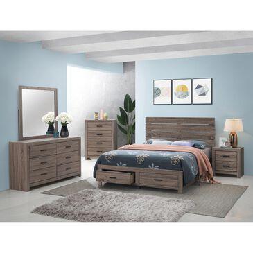 Pacific Landing Brantford 4 Piece Queen Bedroom Set in Barrel Oak, , large