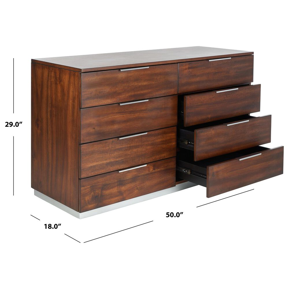 Safavieh Brylin 8 Drawer Dresser in Dark Walnut, , large